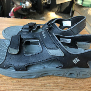 Columbia Youth Black Leather Sport Sandals Size 3
